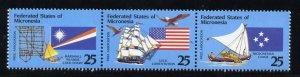 Micronesia 126a MNH Flags, Ships, Birds