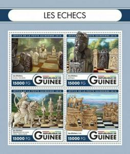 Guinea - 2016 Chess on Stamps - 4 Stamp Sheet - GU16504a