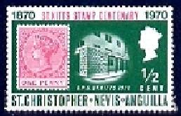 Cent. Stamps of St. Christopher, St. Kitts-Nevis SC#230 MNH