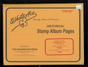 2008 White Ace U.S Commemorative Issue Plate Block Stamp Supplement Pages PB-60