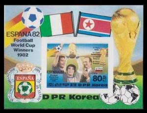 1982 Korea, North 2271/B123b 1982 World championship on football of Spain 13,00