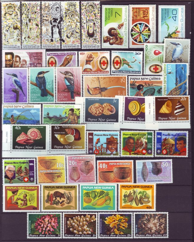 J21846 Jlstamps 10 1980-82 png sets mnh 516a//569