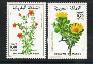 1981 - Morocco - Maroc - Flowers - Fleurs - Complete set 2v.MNH**