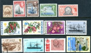 BERMUDA Sc#40//742 1912-1997 24 Different Values Mostly Used F-VF