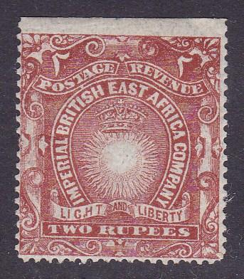 British East Africa 1890 Two Rupees 'Light & Liberty Brick Red F/VF/Mint(*)