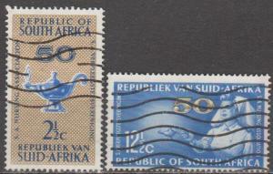 South Africa #304-5 F-VF Used CV $3.75 (B11825)