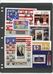 STAMP STATION PERTH Grenada Gren.# Souvenir sheets X 6 MNH