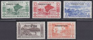 New Hebrides - French Issues J21-J25 MNH (1957)