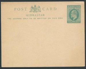 GIBRALTAR EVII ½d postcard fine unused.....................................46925