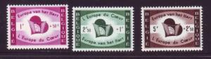 Belgium Sc B638-40 1959 Displaced Persons stamp set mint NH