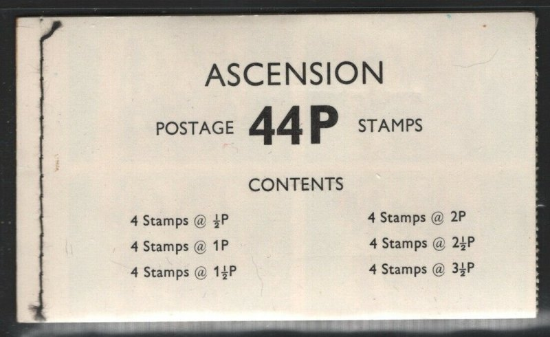Ascension 1971 44p Booklet SG# SB2 NH