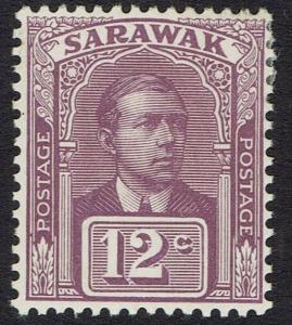 SARAWAK 1918 RAJA VYNER BROOKE 12C NO WMK