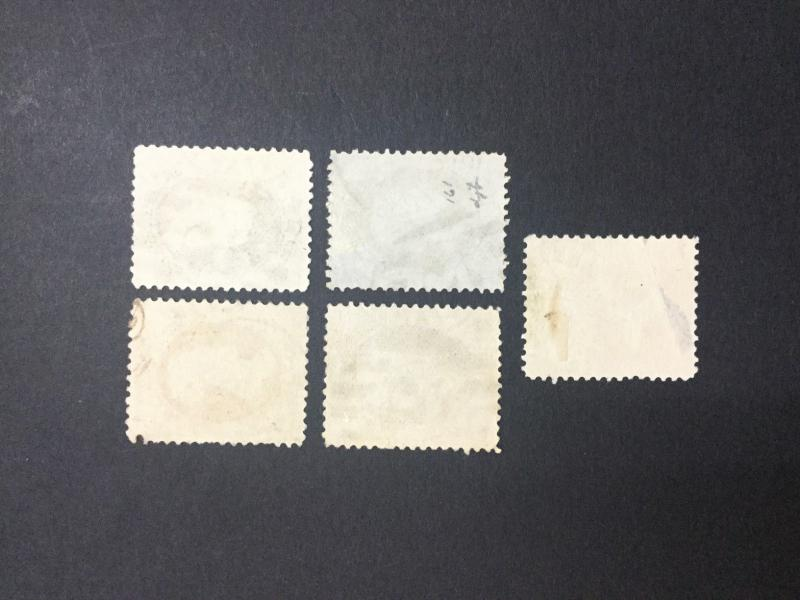 MOMEN: US #183,185,187-189 SUPPLIMENTARY USED $130 #22432