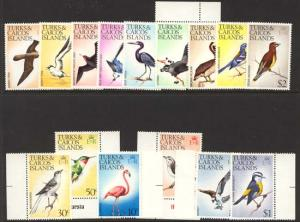 Turks & Caicos - Birds Set mint #265//279
