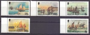 Isle Of Man. 1981. 182-86. Sailboats. MNH.
