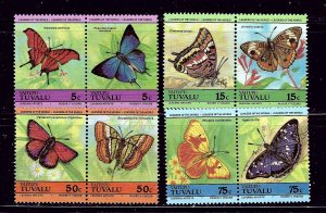 Tuvalu 279-82 MNH 1985 Butterflies