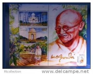 Central African Republic 2011 Mahatma Gandhi India Politician Places M/S Stamps