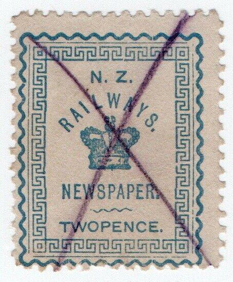 (I.B) New Zealand Railways : Newspaper Stamp 2d