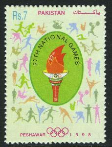 Pakistan 889, MNH. 27th Natl. Games, Peshawar, 1998