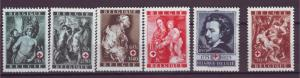 J14785 JLstamps 1944 belgium set mh #b370-5 art
