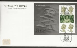 23/5/2000 THE STAMP SHOW 2000 MINATURE SHEET FDC