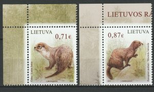 Lithuania 2015 Fauna, animals 2 MNH stamps
