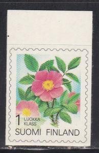 Finland # 840, Flowers, Self Adhesive, NH, 1/2 Cat.