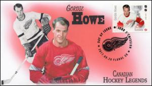 CA17-020, 2017, Hockey Legends, Gordie Howe, Day of Issue, FDC