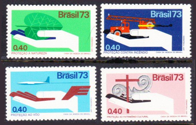 Brazil #1304-07 MH complete set - nature