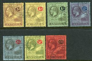ANTIGUA-1921-9  A very fine used set of 7 Sg 55-61