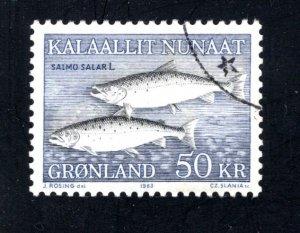 Greenland 141  VF, Postally Used, CV $10.00 ...2510137