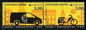 HERRICKSTAMP BOSNIA (CROAT ADMIN) Sc.# 283 EUROPA 2013 Postal Vehicles