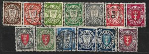 COLLECTION LOT OF 13 GERMANY DANZIG STAMPS 1924+ CV +$50