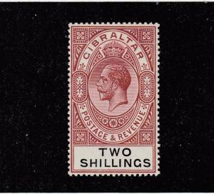 GIBRALTAR  # 86 VF-MLH 2sh KING GEORGE V / RED BROWN & BLACK CAT VALUE $11