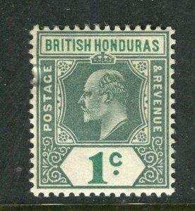 BRITISH HONDURAS; 1902 early Ed VII issue fine Mint hinged Shade of 1c. value
