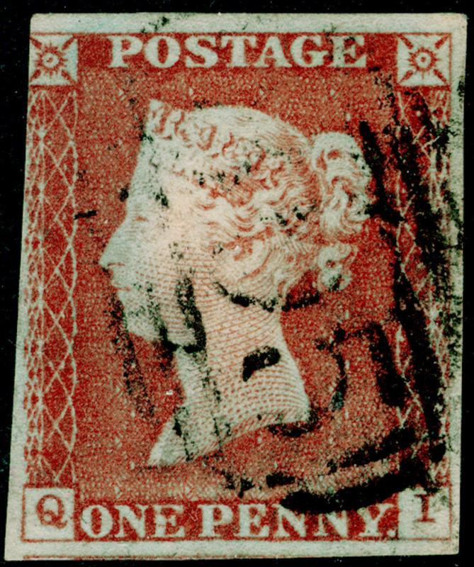 SG8, 1d red-brown, USED. Cat £50. QI