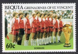 St Vincent Grenadines Bequia 223 Soccer MNH VF