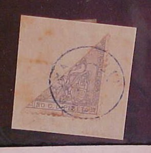 CUBA STAMP BISECT #61A cat.$175.00 on COVER THIS IS A PIECE