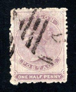 Ceylon #45, F/VF, Used, Wmk. 1a, CV $50.00 ....  1290029
