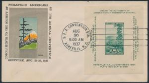 #797 ON FIRST DAY COVER AUG 26,1937 CACHET BY GUNDEL BS6190