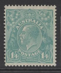 AUSTRALIA SG104 1928 1/4 TURQUOISE MTD MINT