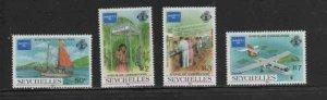 SEYCHELLES #597-600 1976 AMERIPEX '86 MINT VF NH O.G