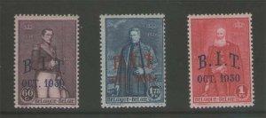 Belgium 1930 Sc 222-224 MNH