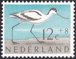 Netherlands # B356 mnh ~ 12¢ + 8¢ Bird - Avocet