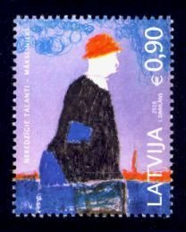 Latvia Sc# 1027 MNH Painting by Blind Child