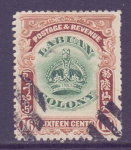 North Borneo Labuan Scott 105 - SG124, 1902 Crown Colony 16c used CTO
