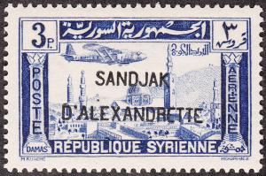 Alexandretta #C4 Syria Air Mail Overprinted MLH