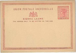 LIONS - POSTAL STATIONERY: SIERRA LEONE