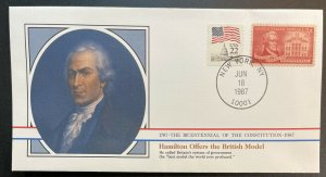 US #1086,2115 Used on Cover - Bicentennial of Constitution 1787-1987 [BIC11]