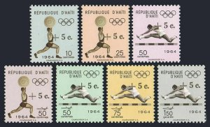 Haiti B35-B37,CB51-CB52,MNH.Michel 805-811. Olympics Tokyo-1964. Weight lifting,